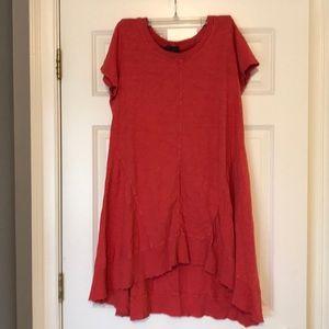 Left of center tunic dress